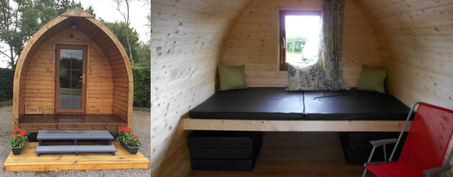 Glamping in Pembrokeshire at Gower Villa Log Pods