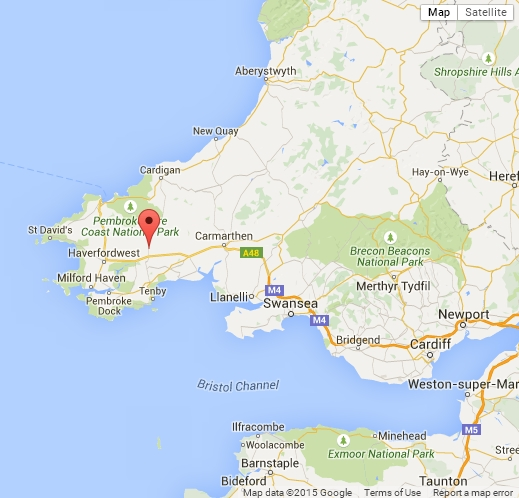 Map of Gower Villa Touring Park West Wales